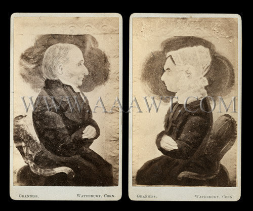 A Very Rare Pair of Miniature Folk Portraits