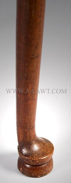 Queen Anne Table New England Circa 1780, leg detail
