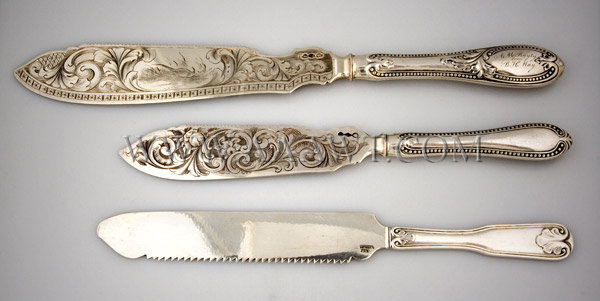 Group of Silver Knives, entire view