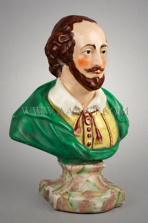 Staffordshire Bust  William Shakespeare, entire view 2