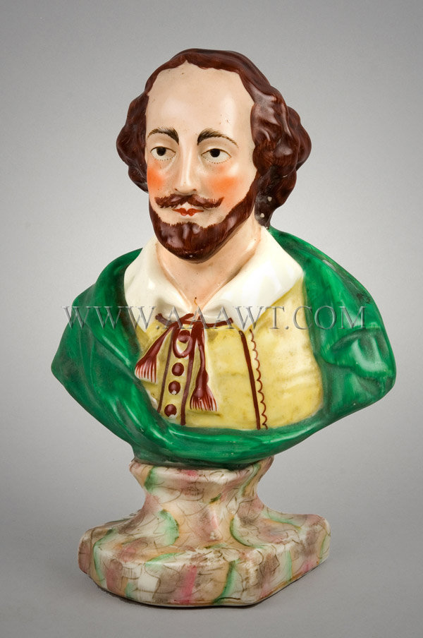 Staffordshire Bust  William Shakespeare, entire view 1