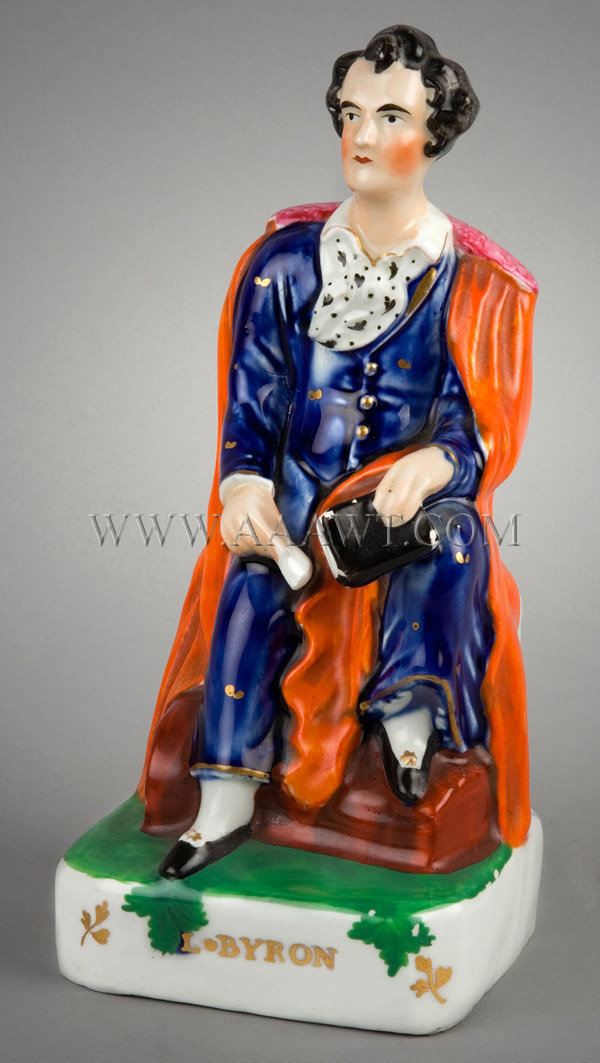 Staffordshire Figure  Lord Byron, entire view 1
