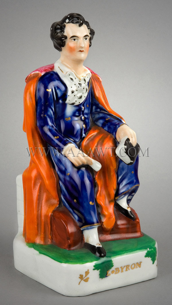 Staffordshire Figure  Lord Byron, entire view 2