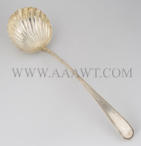 Sterling Silver Ladle In Shell Shape , entire view