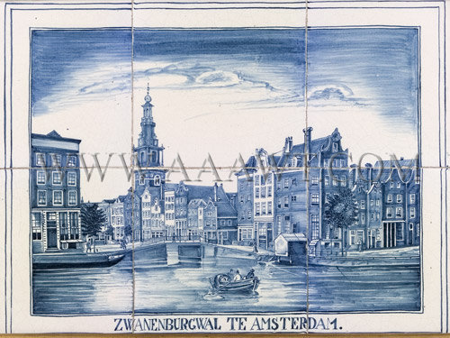 Framed Delft Tiles