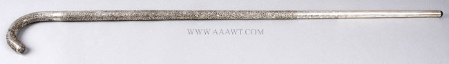 Sterling Silver Presentation Cane, entire view