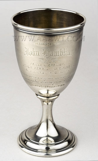 Sterling Silver Goblet, Lifesaving, Nantucket