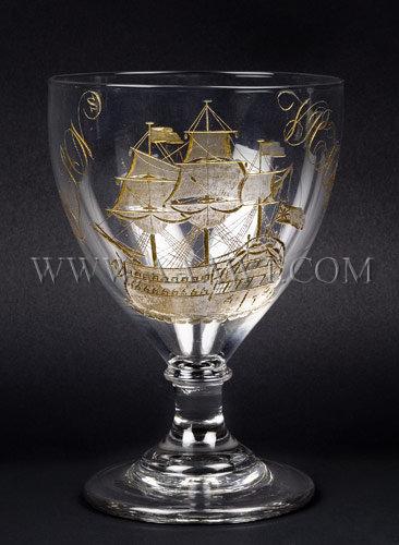 Admiral Nelson Trafalgar Victory Commemorative Goblet Circa 1805, entire view