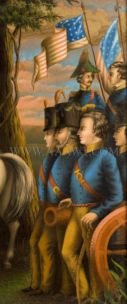 Major General Zachary Taylor, American Troops in Battle, Painting Anonymous, Circa 1847 to 1850, detail view 3