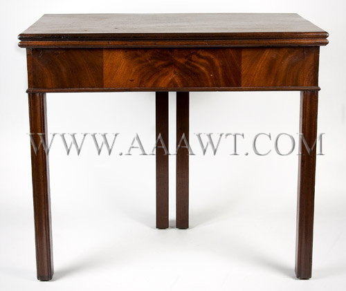 An Outstanding Chippendale Games Table American or English Mahogany Circa 1775, entire view