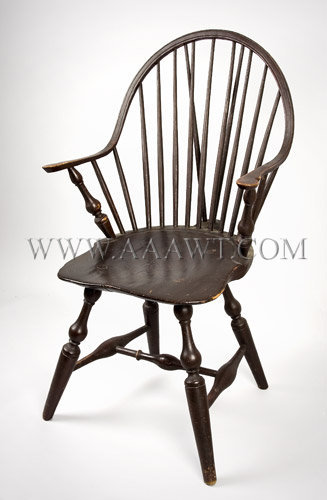 Continuous Arm Brace Back Windsor Chair New York Circa 1790