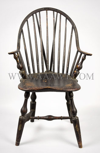 Continuous-Arm Brace-Back Windsor Chair New York Circa 1790, entire view