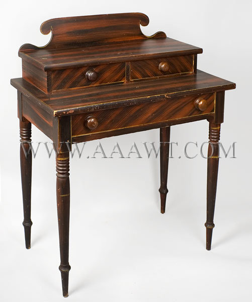 Paint Decorated Dressing Table  Circa 1825-1840, angle view