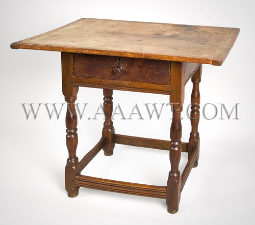 Table, Tavern Table South Eastern, Massachusetts or Rhode Island Circa 1730 to 1740, angle view