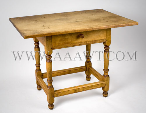 An Outstanding Diminutive Tavern-Table Maple...including top North Shore Massachusetts-Coastal New Hampshire Circa 1740, angle view