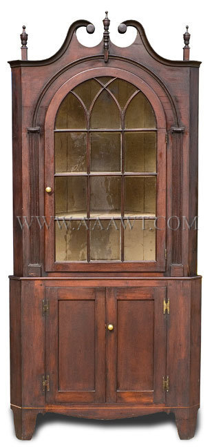 Corner Cupboard  Pennsylvania  Circa 1800, entire view