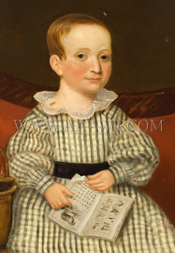 Little Boy With Book, Basket, And Hammer    Mid-Nineteenth Century, entire view