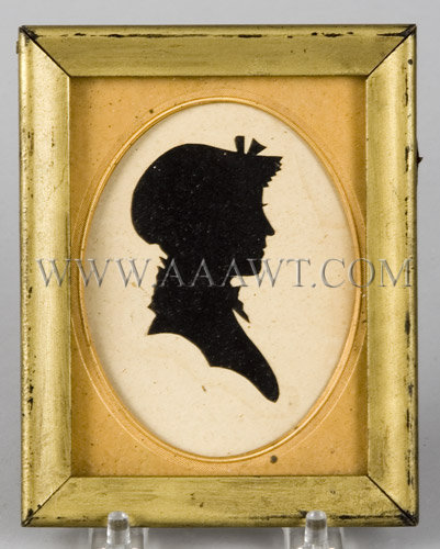 Hollow Cut Silhouette  Of Caroline Green Parsons of Enfield, CT  19th Century, entire view