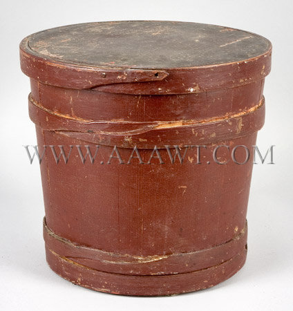 Red Painted Firkin, entire view