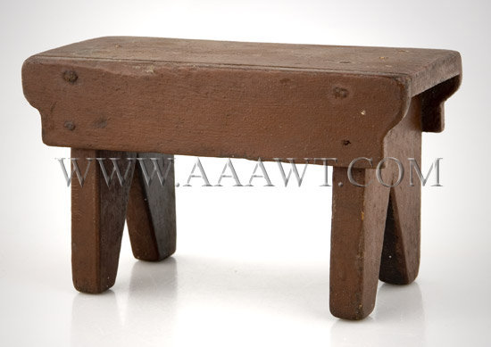 Antique Toy, Foot Stool, Painted, angle view