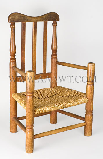 Child's Banister-Back Armchair Connecticut Circa 1780, entire view