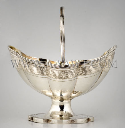 Peter & Anne Bateman Silver Handled Cake Basket