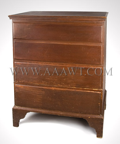 Blanket Chest Above Drawers Proportion, color and condition... Probably Connecticut Circa 1820, entire view