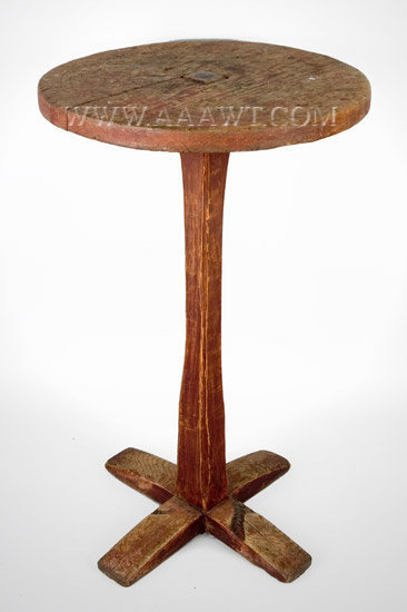 Candlestand, Cross Base New England Circa 1740 to 1800, entire view