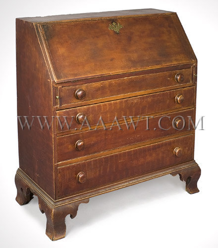 Slant-Lid Desk  New England  Circa 1780, entire view