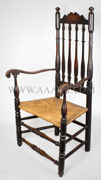 Armchair, Bannister Back New England, Probably Portsmouth, NH Circa 1770, angle view