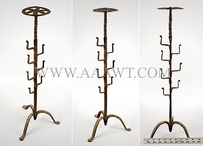 Wrought Iron Pot Stand  Probably American, found in Hudson River Valley  18th Century, entire view