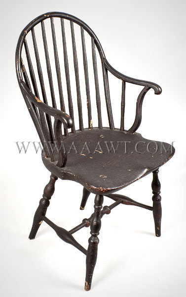 Windsor Arm Chair Pennsylvania Circa 1800, entire view