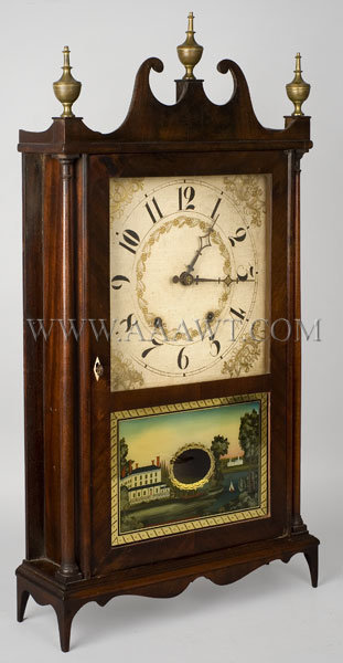Pillar and Scroll Clock Eli Terry 19th Century, entire view