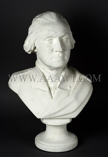 Plaster Sculpture George Washington    Commemorative, entire view