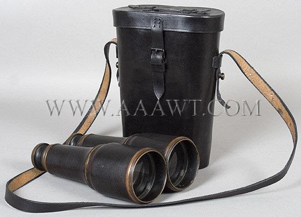 Civil War Era Binoculars, case view