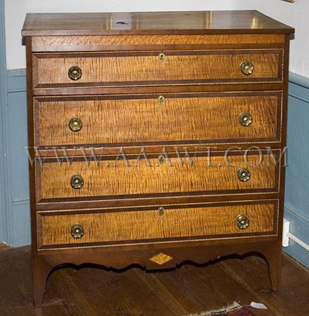 Chest, Four Drawer Probably Rutland, Vermont Circa 1805-1815, entire view
