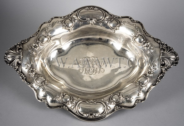 Sterling Silver Basket SHREVE, CRUMP & LOW CO, entire view