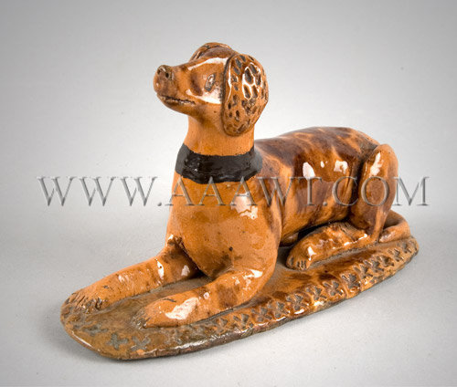 Redware Dog  Pennsylvania  Circa 1850-1860, entire view