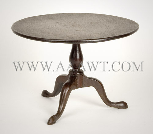 19th Century Chippendale Style Miniature Tea Table Mahogany, entire view