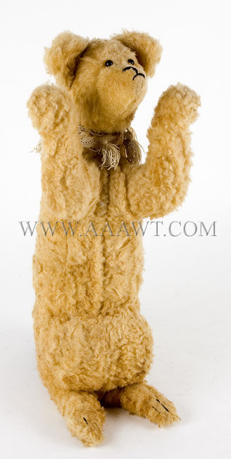 Antique Candy Container, Teddy Bear Form, angle view
