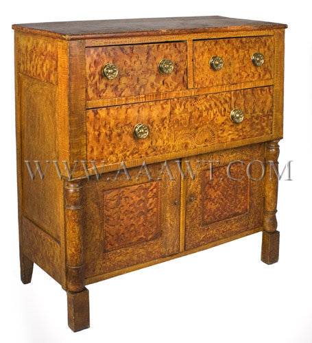 Sideboard, Fancy Paint Decoration  American  Circa 1835, angle view