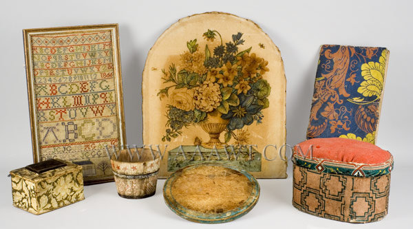 Antique Theorem, Sampler, Treen and Boxes, group view