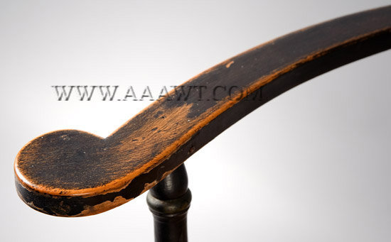 Armchair New York Circa 1800, armrest detail
