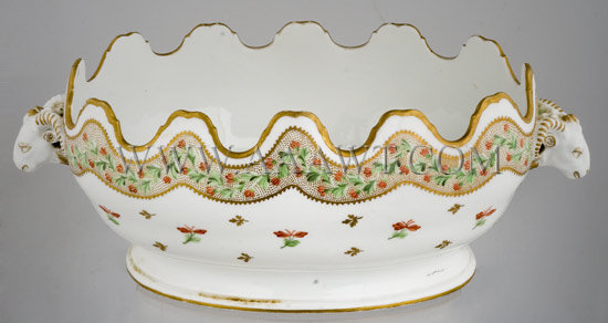 18th Century Porcelain Monteith, Faubourg St. Denis, Paris, entire view