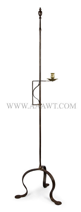 Wrought Iron Floor Candle-Stand