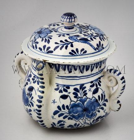 Delft Posset Pot England, circa 1720, entire view