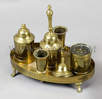 Brass Ink Stand c. 1800, entire view