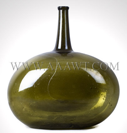 Demijohn Bottle  Blown  Circa 1830 to 1840, entire view