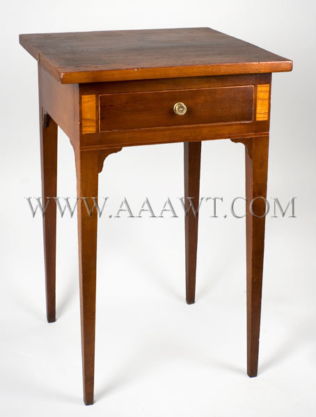 Hepplewhite Table  One-drawer work-stand  Coastal Massachusetts  Early 19th Century, entire view