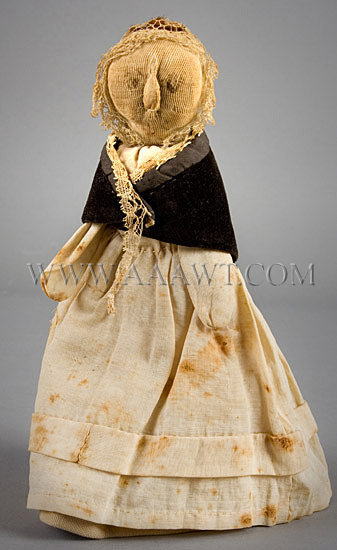 Antique Doll, Rag Doll, American, 1830's, entire view